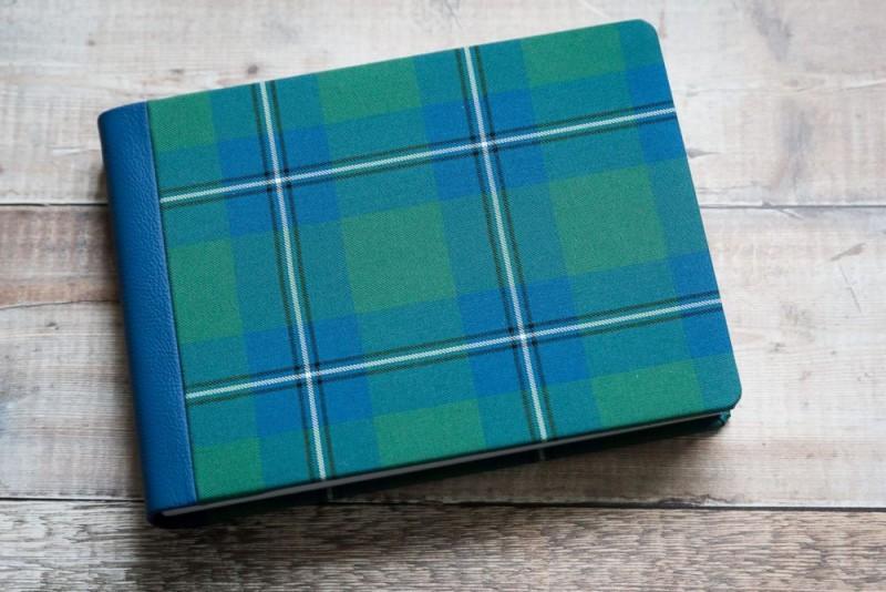 Personalised tartan wedding album