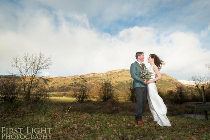 Catherine & Robert's rustic winter wedding, Scotland