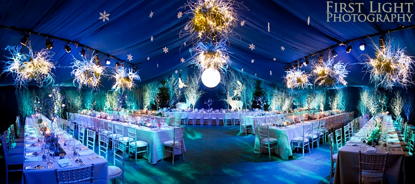 Winter wonderland wedding with Enchanted Forest theme