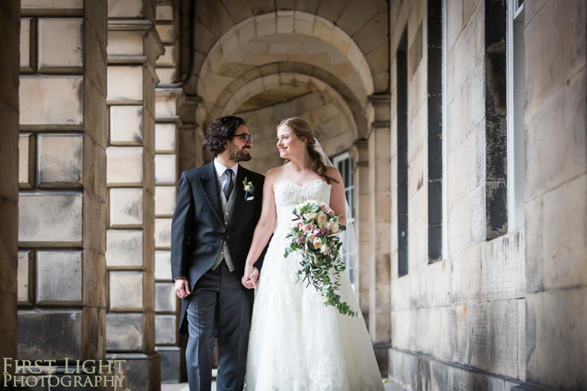 Wedding photography at Signet Library , Edinburgh by First Light photography, Scotland, bride and groom portrait, edinburgh wedding photographer,