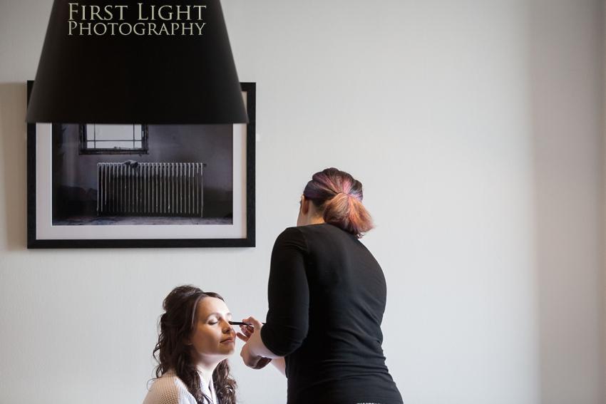Wedding makeup, wedding details, Dundas Castle wedding photography. Edinburgh wedding photography by First Light Photography