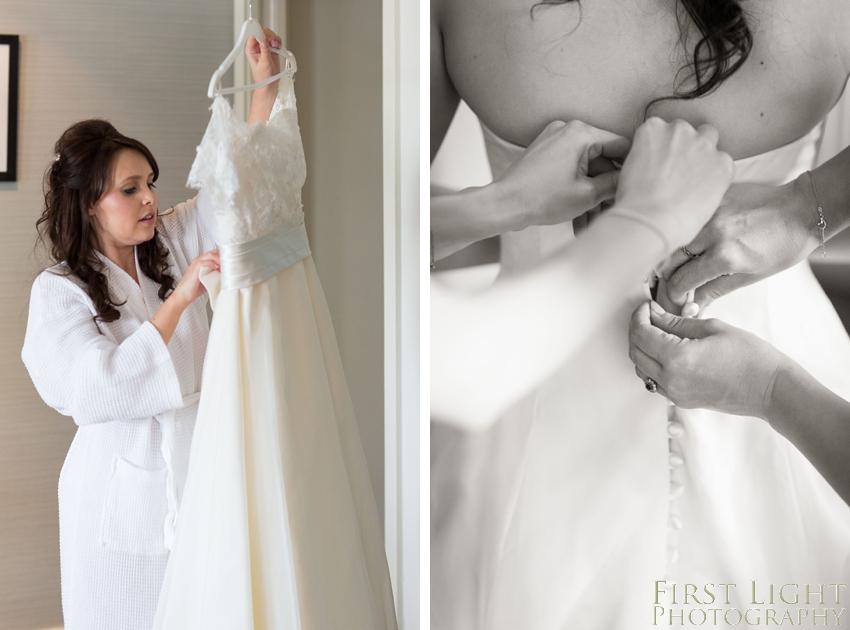 Wedding dress, wedding details, Dundas Castle wedding photography. Edinburgh wedding photography by First Light Photography
