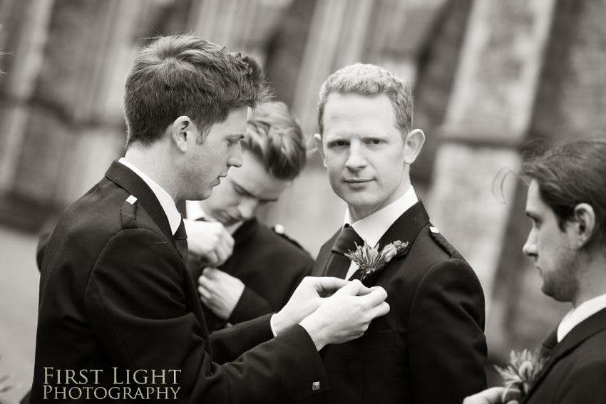 Ushers, groomsmen, best man, wedding, Dundas Castle wedding photography. Edinburgh wedding photography by First Light Photography