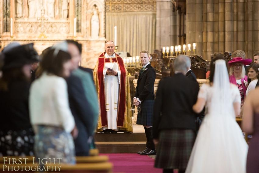 wedding in church, Dundas Castle wedding photography. Edinburgh wedding photography by First Light Photography