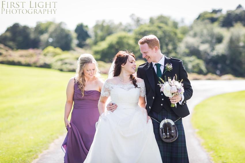 bridesmaid, wedding couple, Dundas Castle wedding photography. Edinburgh wedding photography by First Light Photography