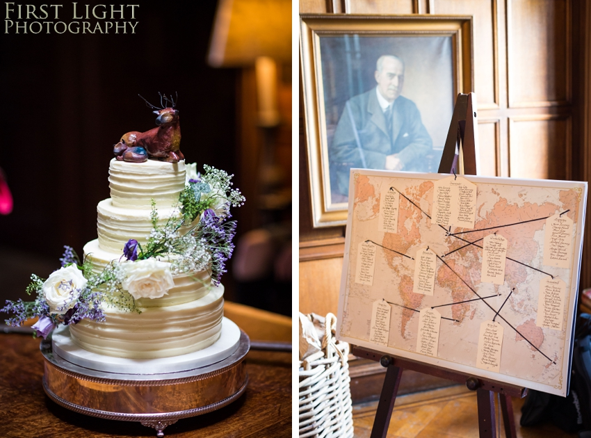 Wedding cake, wedding details, Dundas Castle wedding photography. Edinburgh wedding photography by First Light Photography