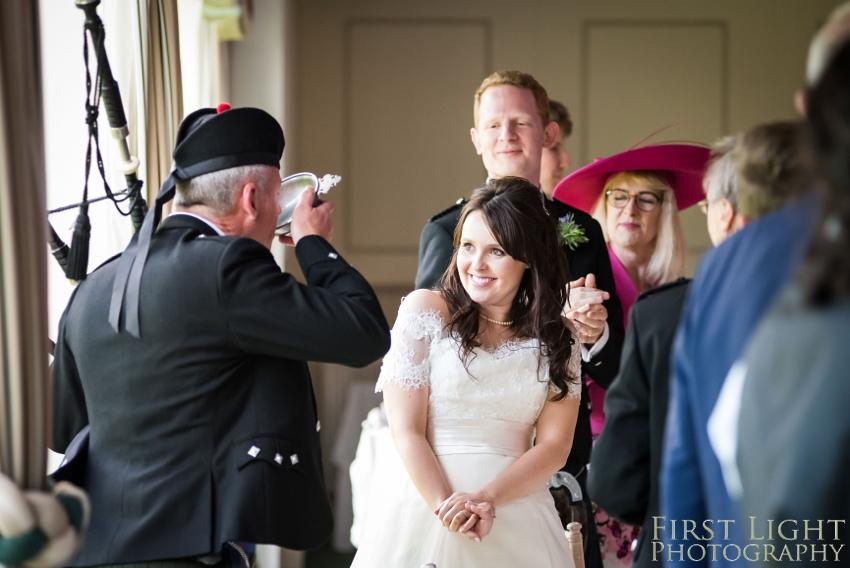 wedding dress, Dundas Castle wedding photography. Edinburgh wedding photography by First Light Photography