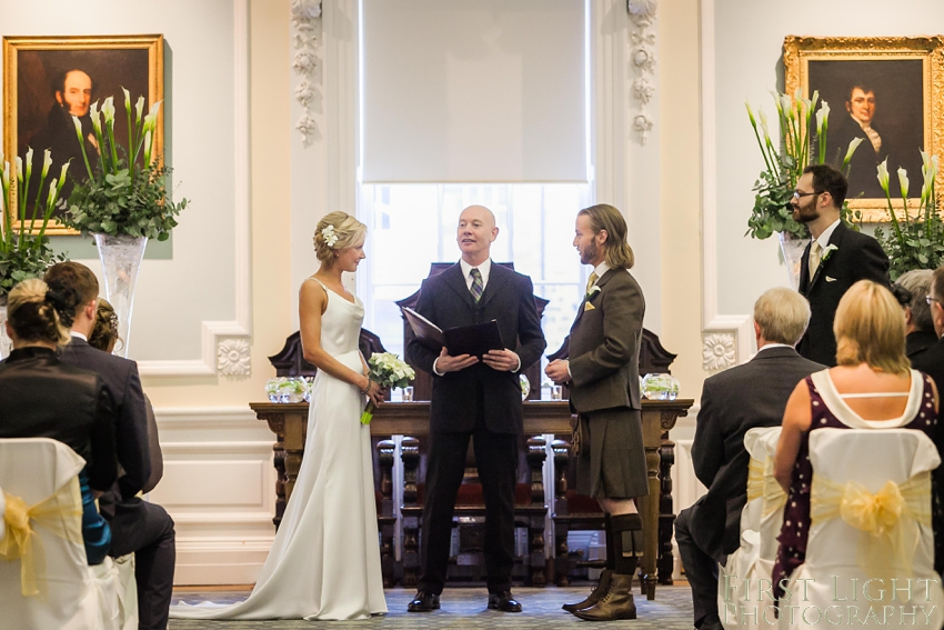 Humanist wedding, Royal College of Surgeons. Photographed by First Light Photography