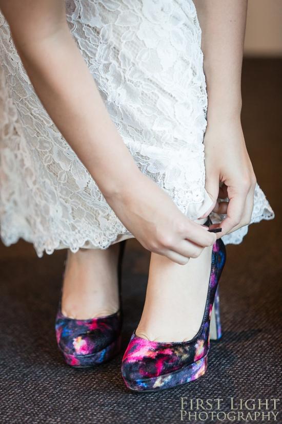 colourful wedding shoes, wedding photographer Scotland