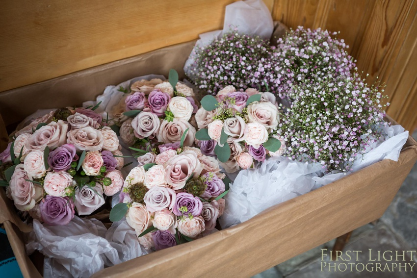wedding flowers, wedding bouquet, bridal bouquet, wedding roses, Gilmerton House, Wedding Photographer, Edinburgh Wedding Photographer, Edinburgh, Scotland, Copyright: First Light Photography