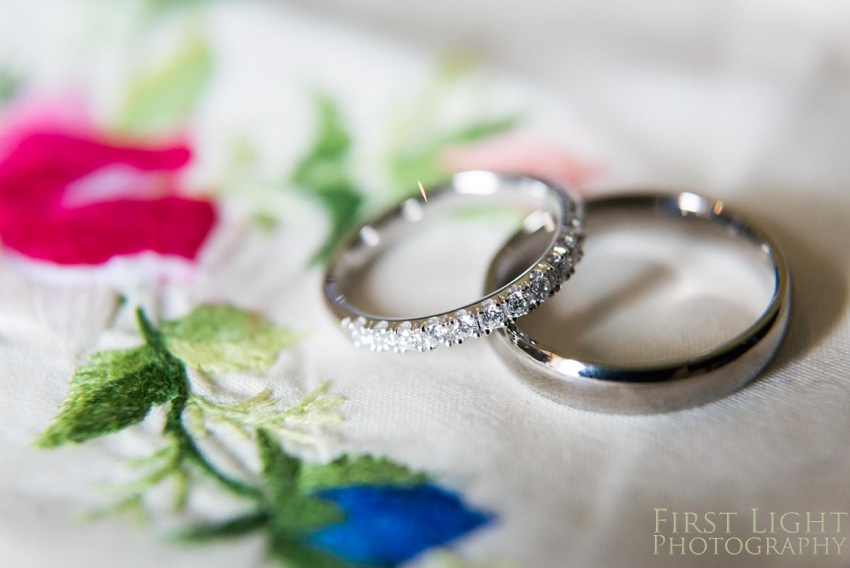 Wedding rings, wedding details, wedding jewellery, Gilmerton House, Wedding Photographer, Edinburgh Wedding Photographer, Edinburgh, Scotland, Copyright: First Light Photography