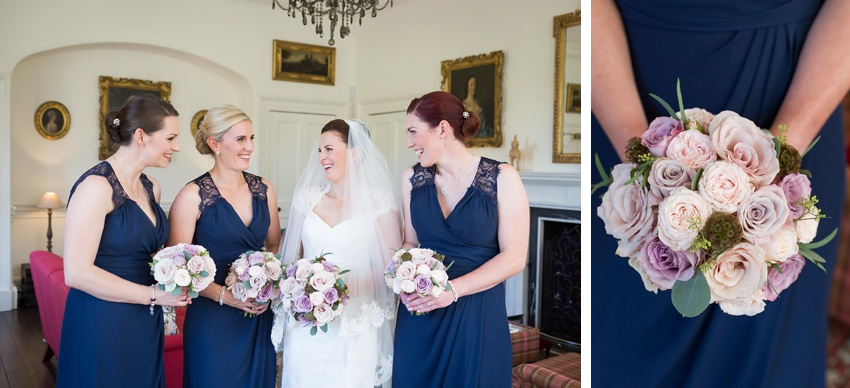 Wedding flowers, bridesmaids, wedding dress, Gilmerton House, Wedding Photographer, Edinburgh Wedding Photographer, Edinburgh, Scotland, Copyright: First Light Photography