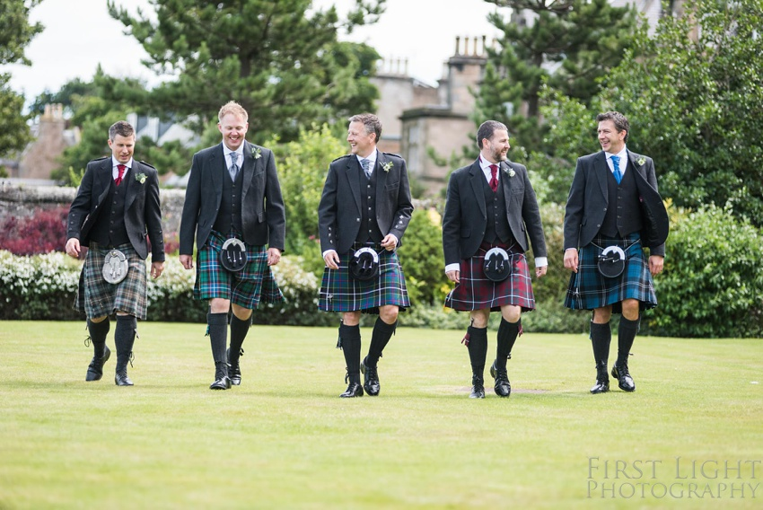 Ushers, Groomsmen, Best man, Gilmerton House, Wedding Photographer, Edinburgh Wedding Photographer, Edinburgh, Scotland, Copyright: First Light Photography