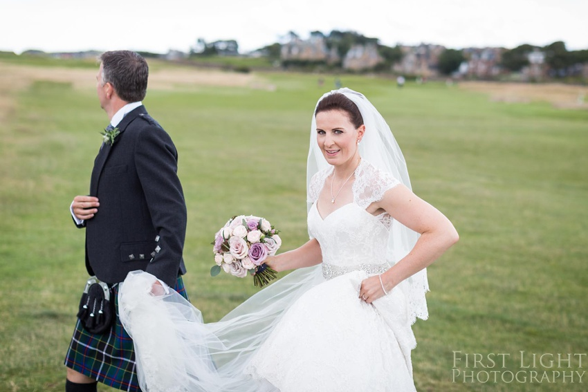 Wedding dress, wedding flowers, Gilmerton House, Wedding Photographer, Edinburgh Wedding Photographer, Edinburgh, Scotland, Copyright: First Light Photography
