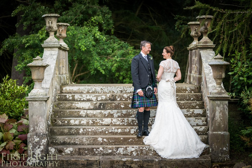 Wedding couple, wedding dress, Gilmerton House, Wedding Photographer, Edinburgh Wedding Photographer, Edinburgh, Scotland, Copyright: First Light Photography