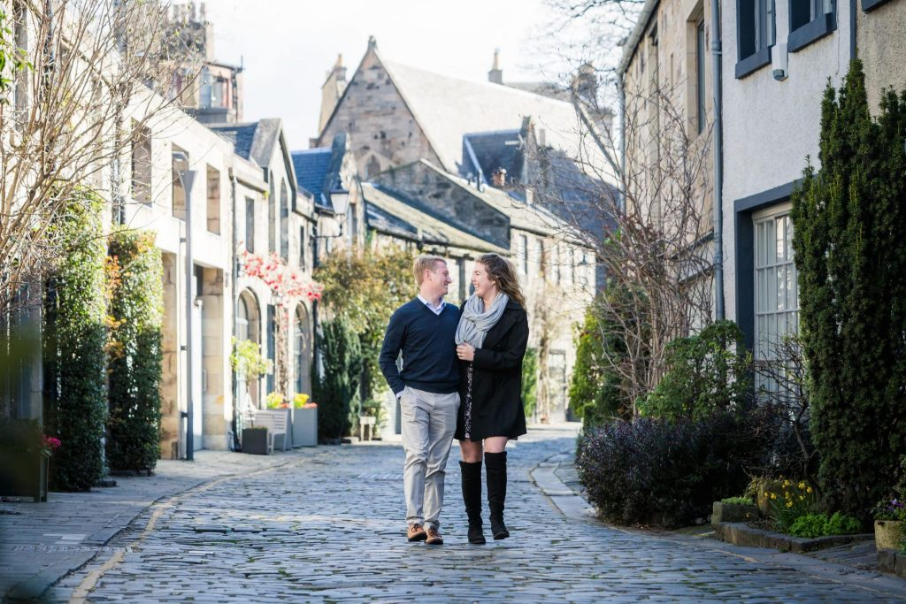 Wedding Proposal photography in Circus Lane, Edinburgh, Edinburgh proposal photography