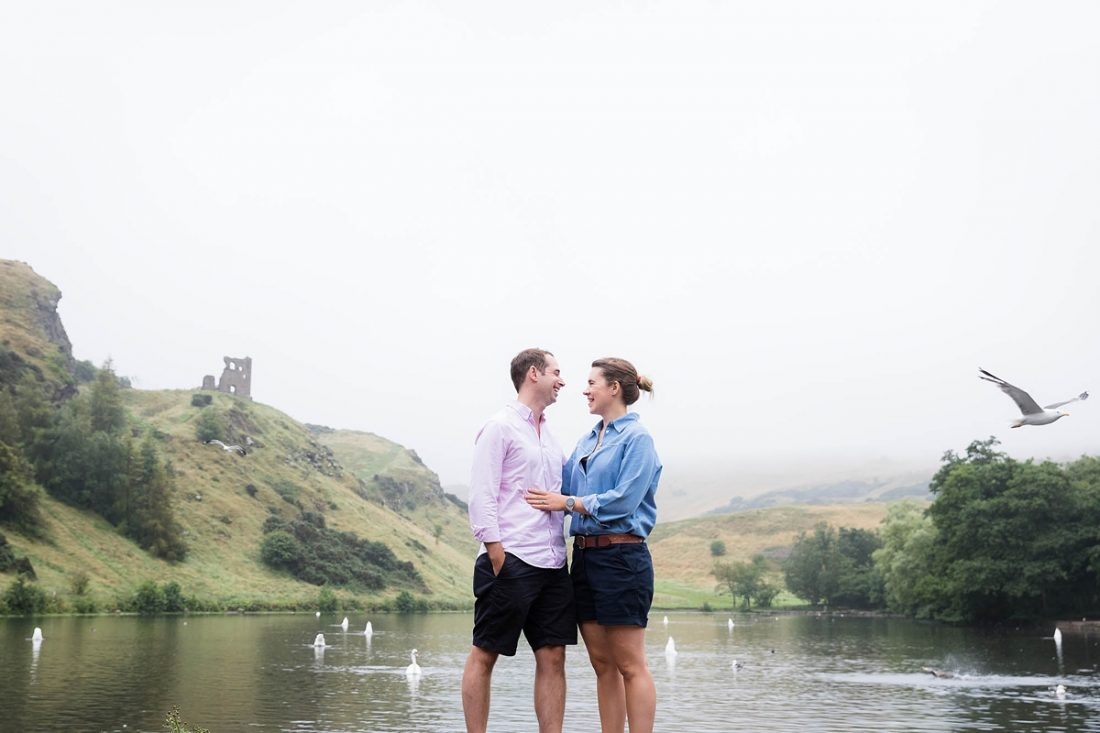 portraiture in Holyrood Park