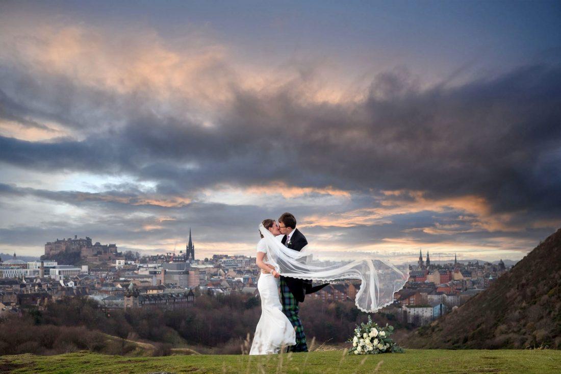 wedding photography, Arthur's Seat Edinburgh