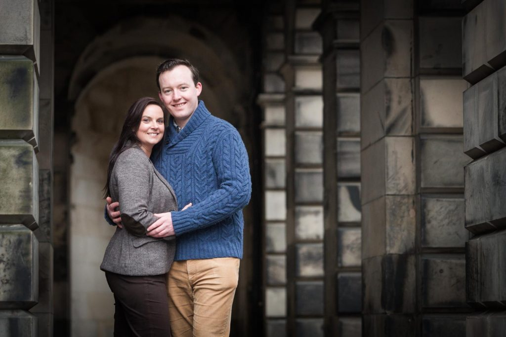 Edinburgh wedding proposal photography