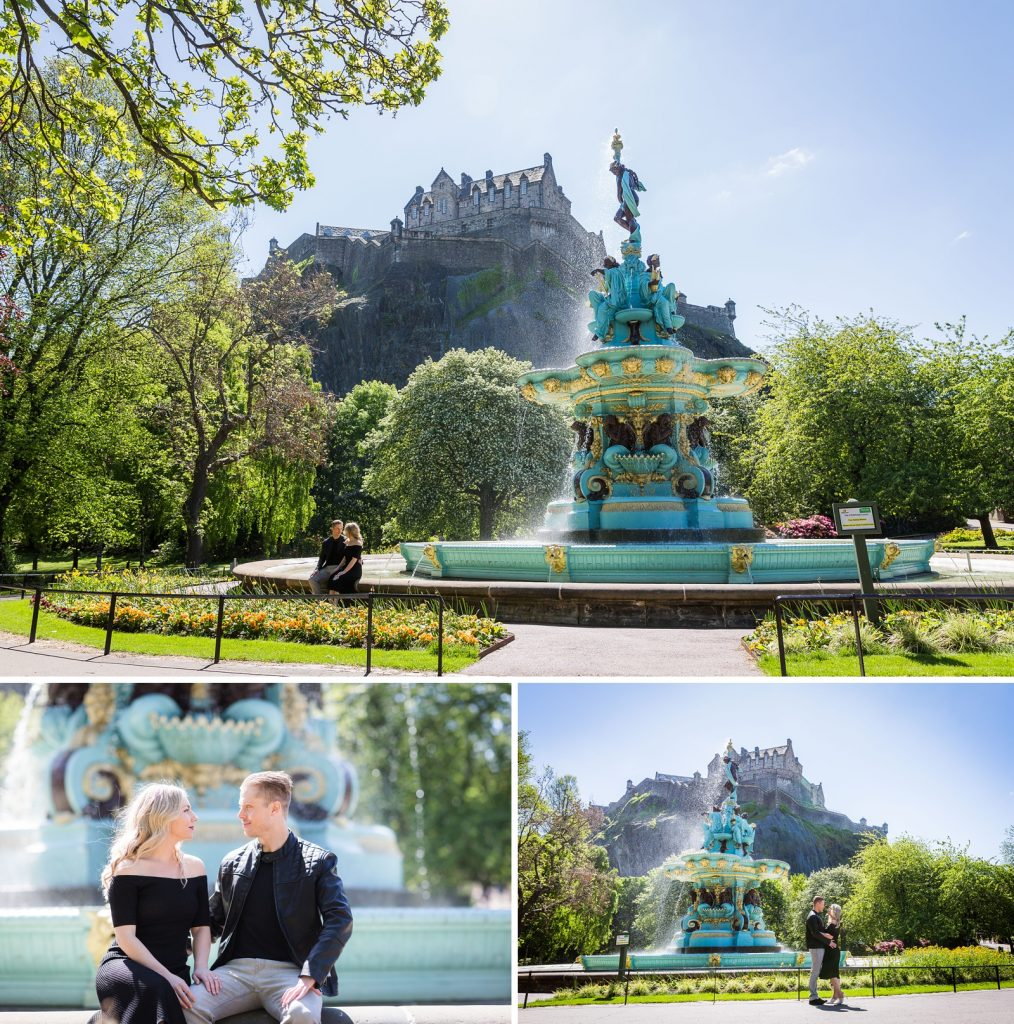 Ross Fountain wedding proposal, Edinburgh