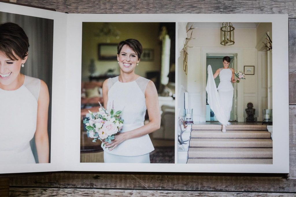 luxury wedding album, storybook