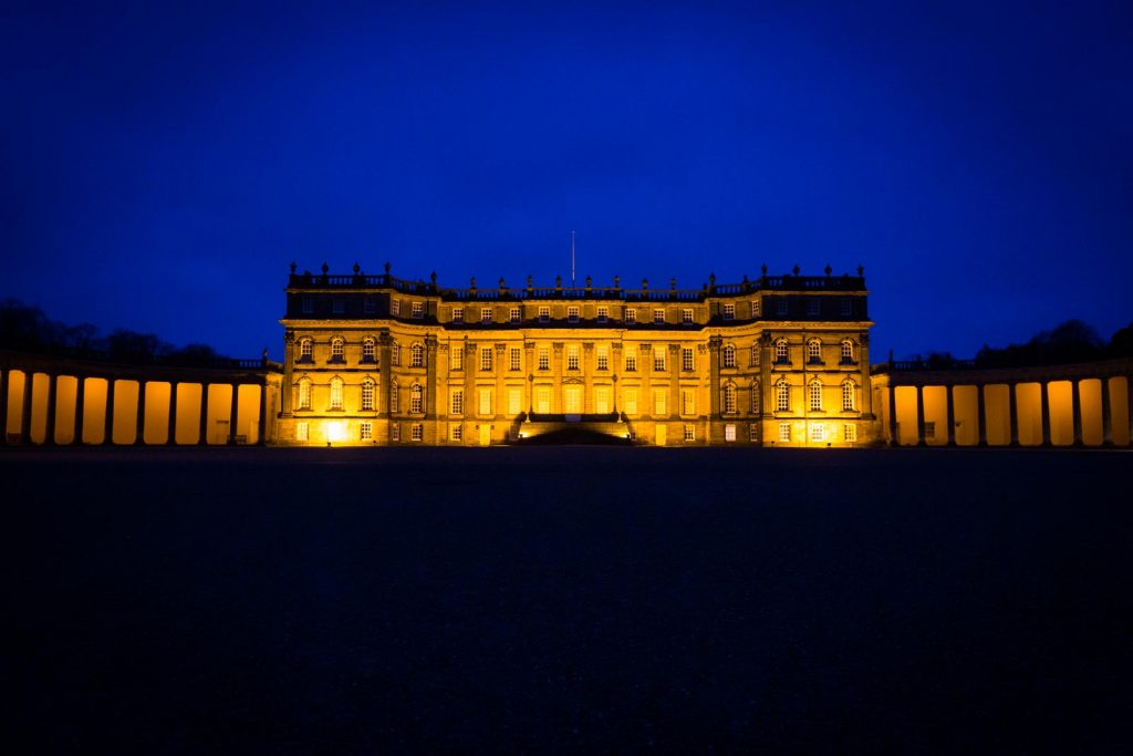 Hopetoun House Wedding, Edinburgh, Edinburgh Wedding Photographer, sunset, blue hour Scotland. Copyright: First Light Photography